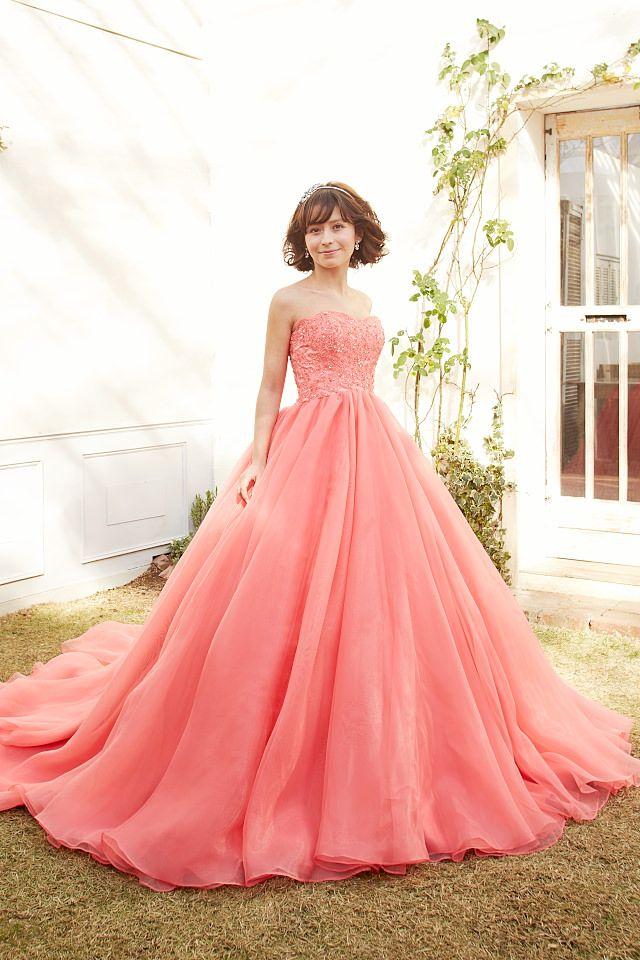 キャンディーピンクのカラードレス|SS9590CP