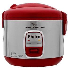 Panela de Arroz Elétrica Philco 6 Xícaras PH6 - Vermelha