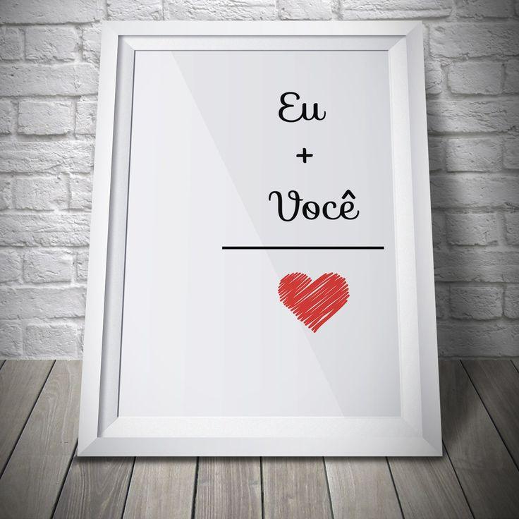 Poster - Eu + Você = Amor