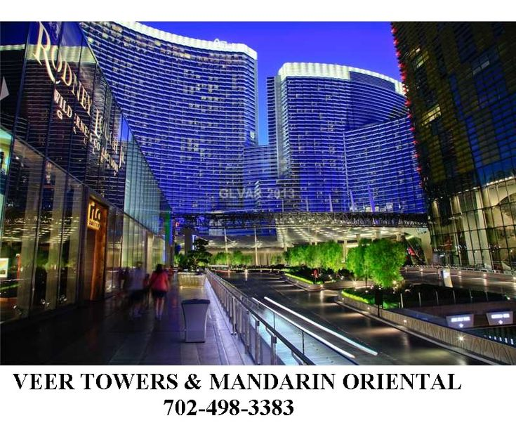 Wonderful Las Vegas high rise condos on the Las Vegas Strip ... Veer Towers -studios, 1,2,3 bdrms and penthouses  The Residences at Mandarin Oriental -luxury condos above the hotel.... see them all at http://www.michaelshankman.com   702-498-3383