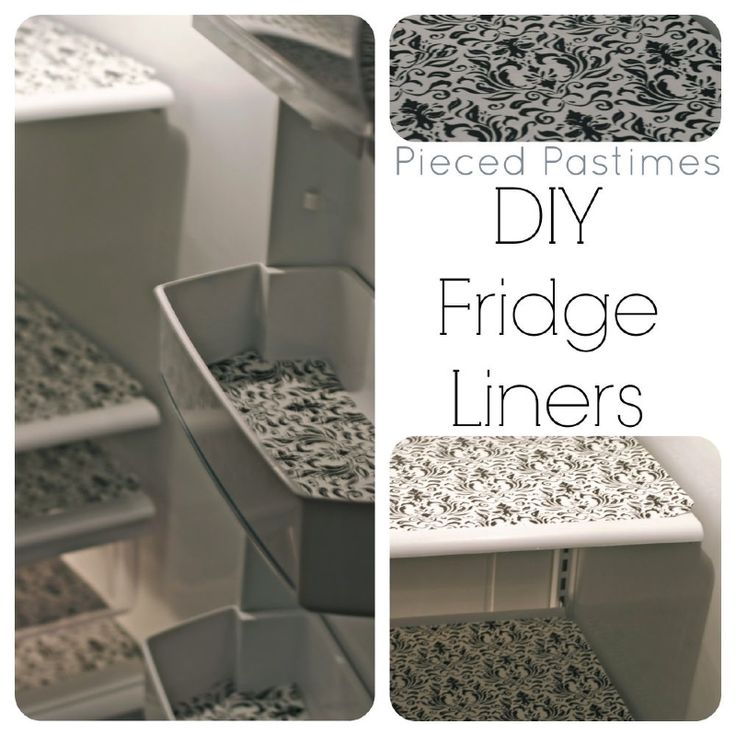 DIY Fridge Liners Great Idea. Dollar store vinyl place mats in the fridge-easier to clean up.