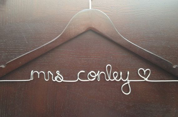 Personalized Wedding Name Hanger by Handcrafted Affairs