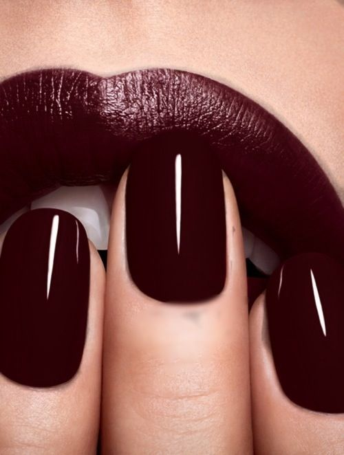 Oxblood nail and lip