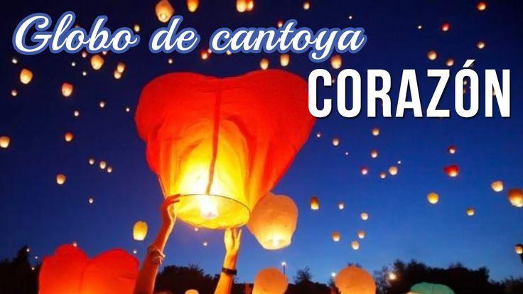 Globo de cantoya con forma de CORAZÓN DIY + FAILS   Cómo hacer