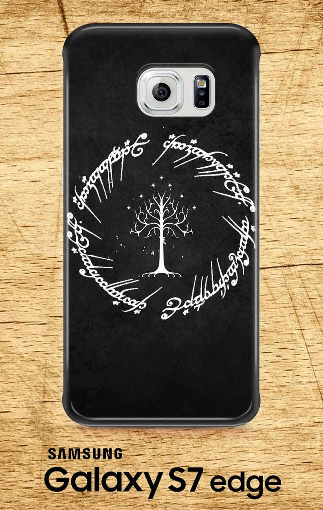 White Tree in Lord of The Rings Circle Script Samsung Galaxy S7, S7 Edge 3D Full Wrap Case