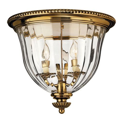 "14"" w 13"" High  Oxford Small Burnished Brass Flush Mount Ceiling Light Hinkley Flush Mount Flush & Semi Fl"
