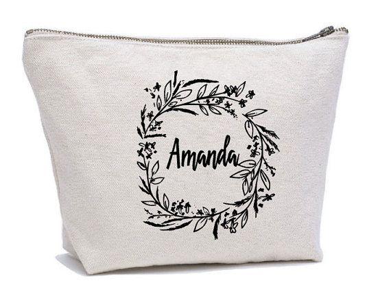 Personalized Cosmetic Bag  Bridesmaid Cosmetic от Mybebecadum