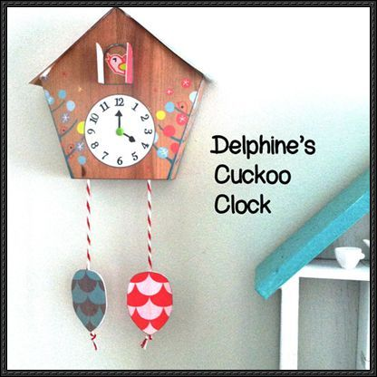 An Animated Cuckoo Clock Free Paper Toy Download