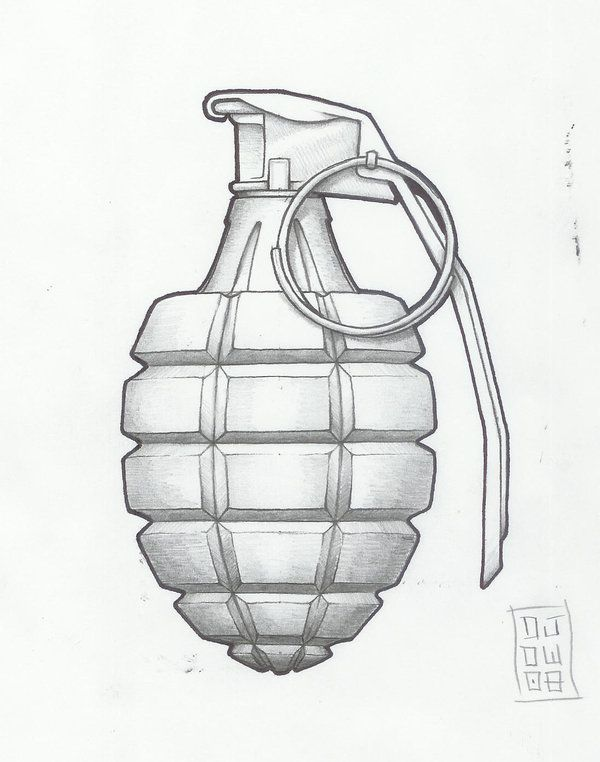 traditional grenadetattoo designs | grenade by metronomicon-designs