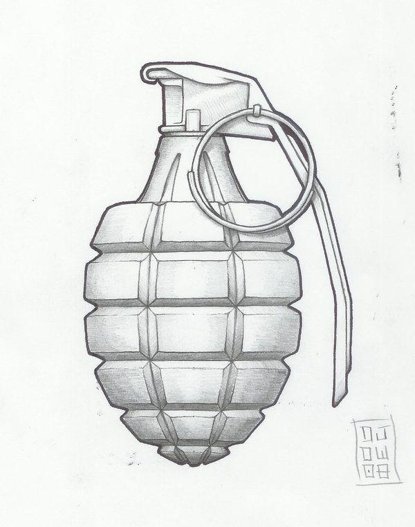 traditional grenadetattoo designs   grenade by metronomicon-designs