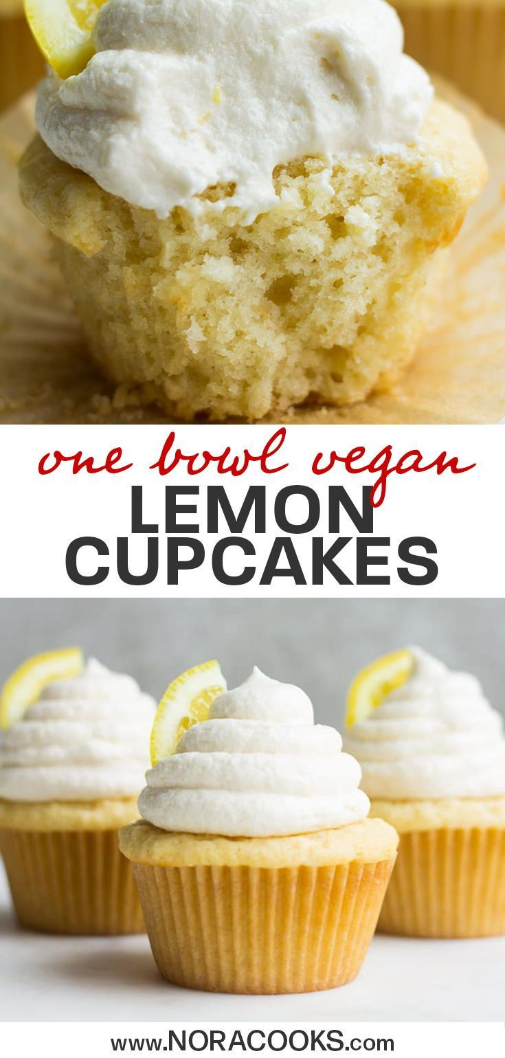 1 Bowl Vegan Lemon Cupcakes Nora Cooks In 2020 Vegan Dessert Recipes Vegan Desserts Lemon Cupcakes