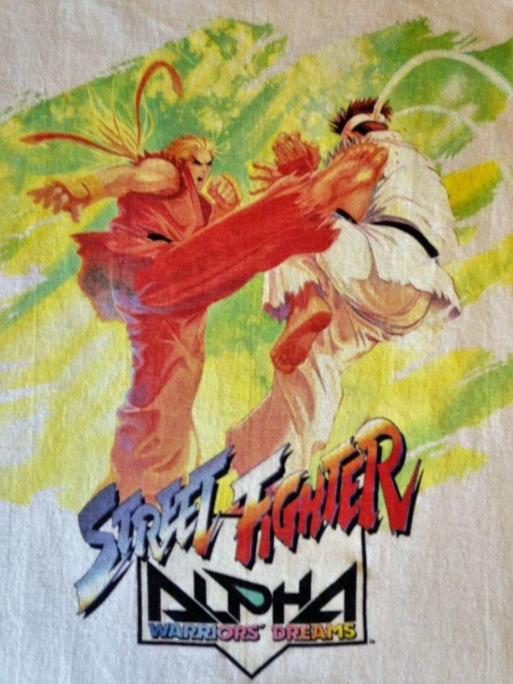Vintage Original 90's Capcom Street Fighter Alpha Warrior's Dreams T-Shirt #FruitoftheLoom #GraphicTee