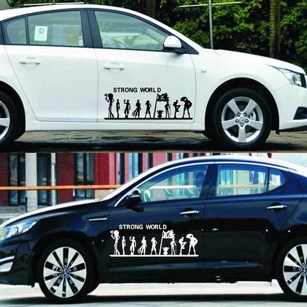 Сильный мира стикер автомобиля внешние аксессуары наклейки на автомобиль для BMW для форд фокус 2 Car Styling