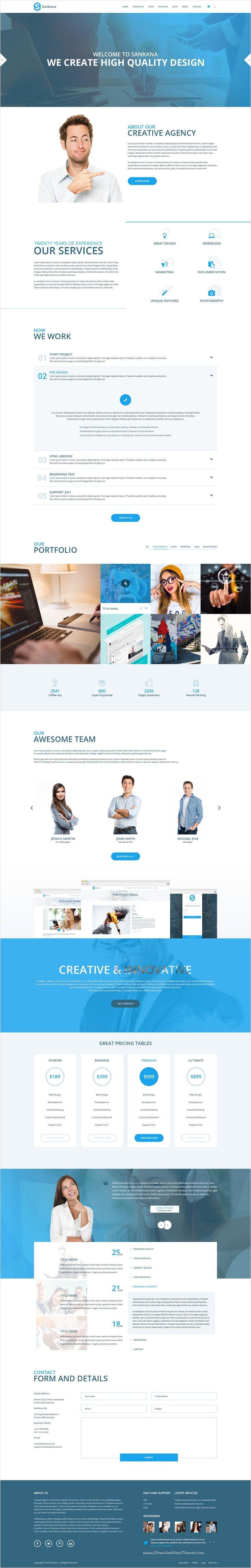 Sankana is beautifully #design premium #PSD template for multipurpose #business…