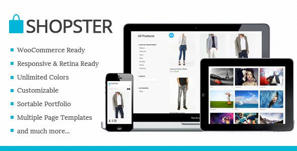 Shopster - Themeforest Retina Responsive WooCommerce Theme » THEMELOCK.COM -