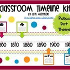 This classroom timeline is a great way to help your students practice timeline skills and remember important events from history! This timeline kit...
