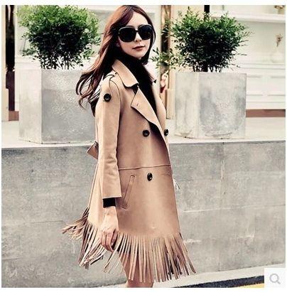 Купить Зима европейский высокого класса женщины крупным костюм замши бахромой мода пальтои другие товары категории Тренчив магазине Fashion Accessories ClubнаAliExpress. пальто мужские и пальто платья для женщин