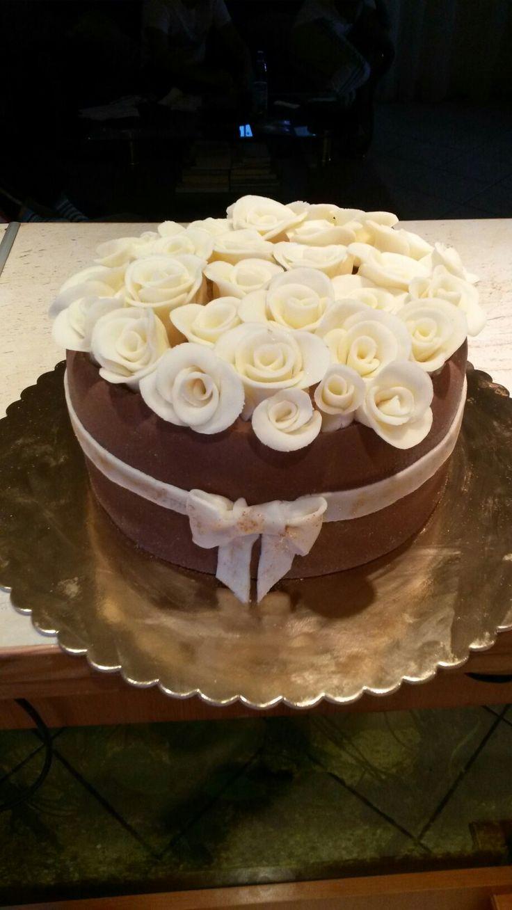 Rózsás torta Roses cake