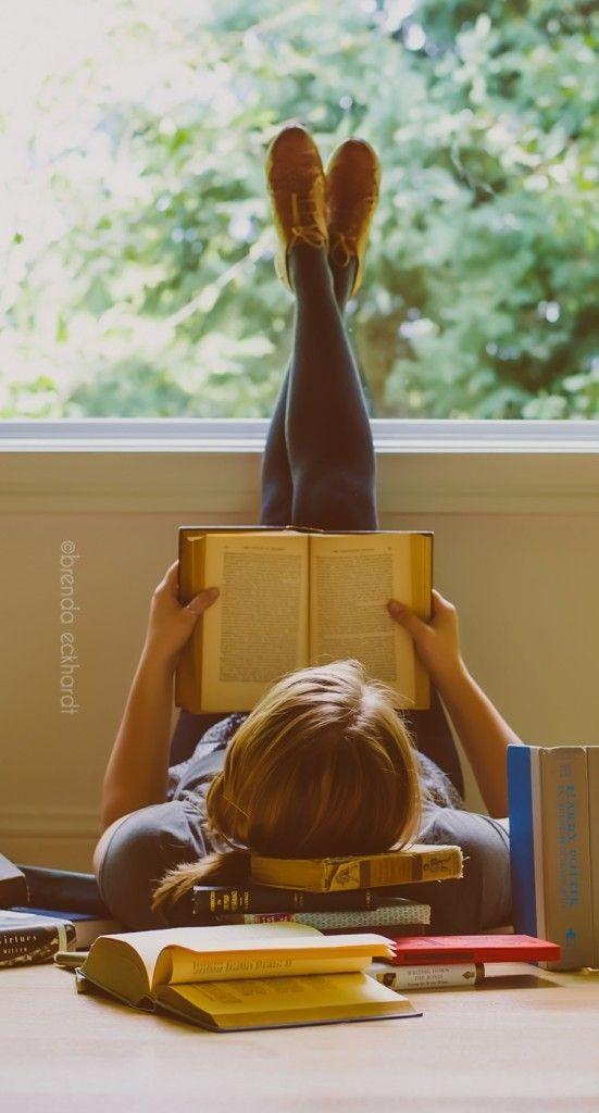 foto book de 15: lendo