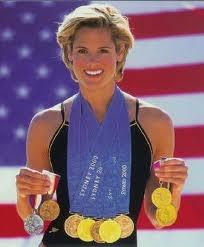 Dara Torres, Florida Gator, 45, fastest female swimmer in America-5 Olympics,12 medals