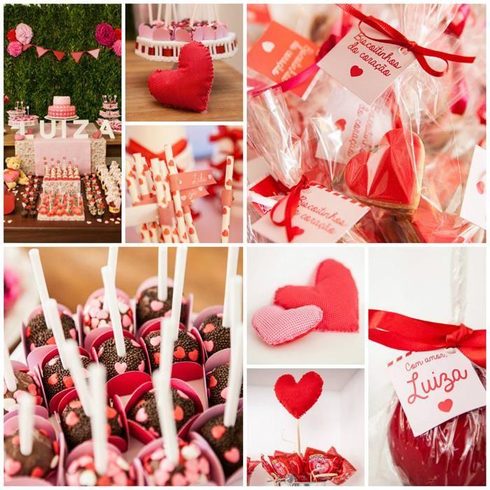 A Heart Party with Lots of Really Cute Ideas via Kara's Party Ideas KarasPartyIdeas.com #ValentinesDay #HeartParty #LoveParty #PartyIdeas #PartySupplies
