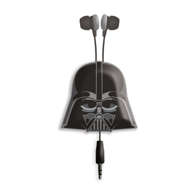 Star Wars Darth Retractable Earphones