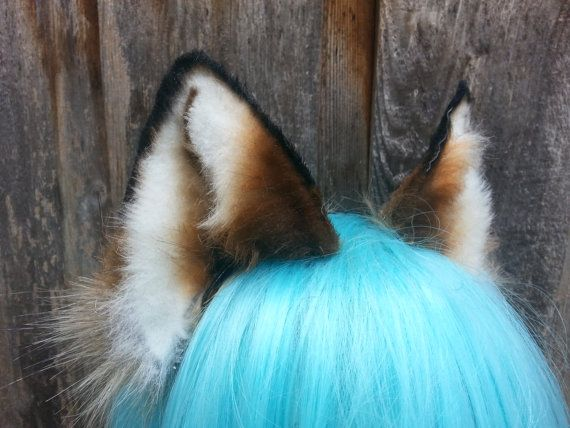 red fox ears by woodlandcreatureshop on Etsy