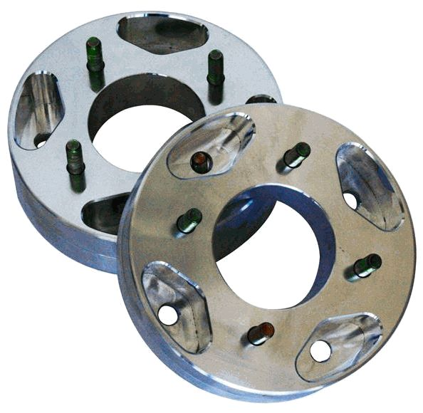 """The 1-1/2"""" Billet Wheel Spacers will stabilize your ACE quickly and easily. Push those tires out with some of the finest spacers available for UTVs. $119.00 http://www.sidebysidestuff.com/dragon-fire-racing-billet-1-1-2-wheel-spacers-ranger-rzr.html"""