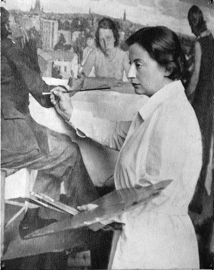 Wanda von Debschitz-Kunowski: Lotte Laserstein vor Abend über Potsdam, um 1930 © Lotte-Laserstein-Archiv, Schenkung Peter Fors, Berlinische Galerie