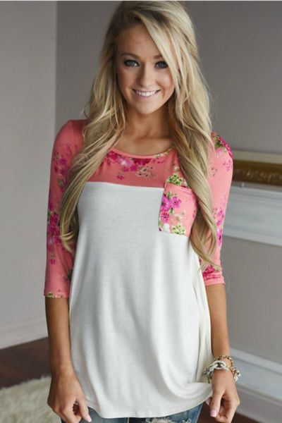 A touch of girly and sass come togetherto make the perfect top for any occasion! The Always Joyful Top features a 3/4 length sleeve with an O neck,and finish