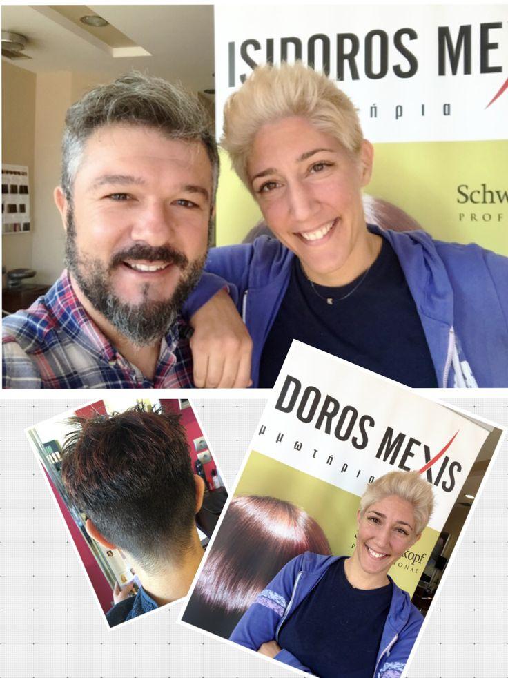 By Isidoros Mexis team Haircut  Color hair