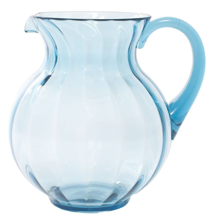 Baci Milano Water Jug - Blue — Giftwerks This stylish Acrylic Jug from Baci Milano in Italy, is available in a variety of colours and is a great way to serve cool drinks when entertaining guests on a warm day!