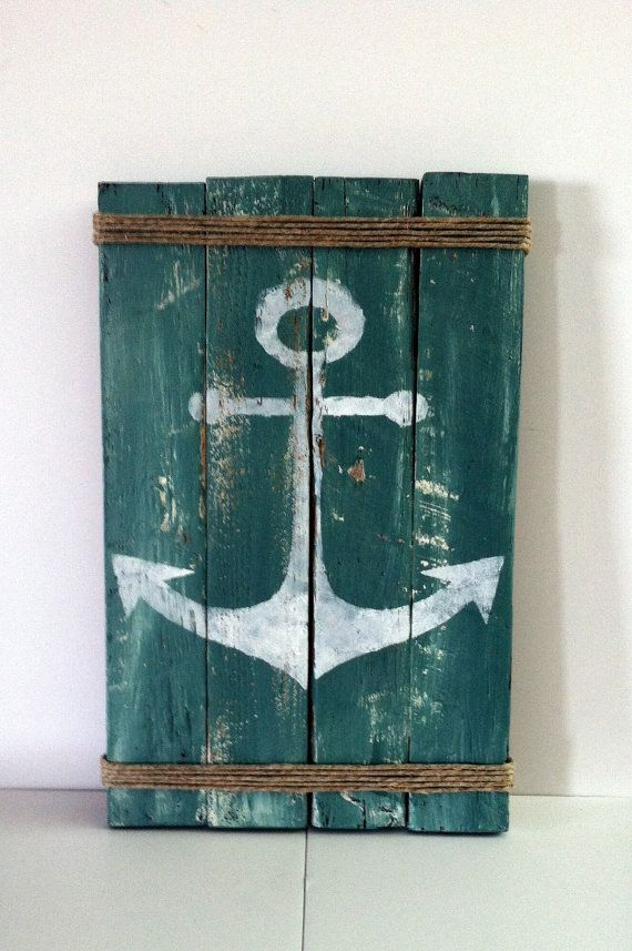 Pallet Anchor Sign Rustic Lake Decor Rustic by CharmingWillows, $40.00
