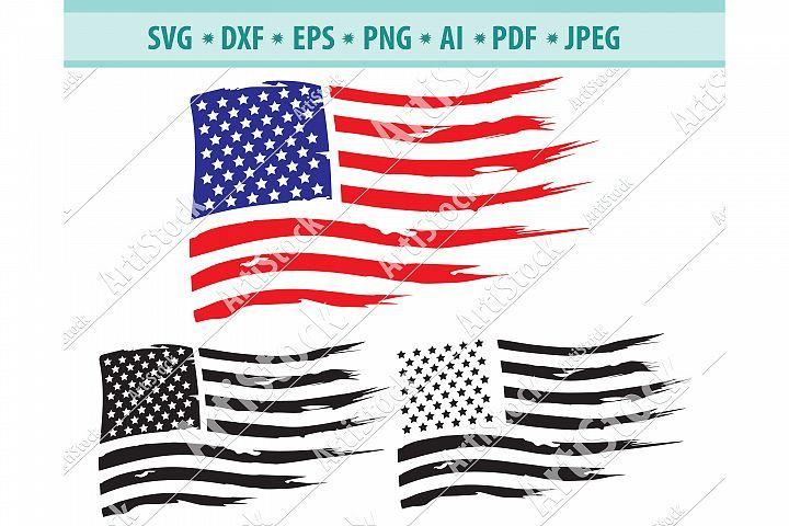 Us Flag Svg Distressed Flag Png Americans Flag Dxf Eps 429554 Svgs Design Bundles Vinyl Decal Paper Distressed Flag American Flag