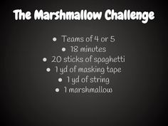 Middle School Math Rules!: The Marshmallow Challenge, a Great Team Building Exercise for introducing Math Workshop