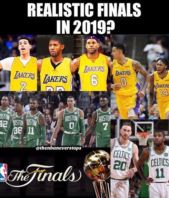 With all the rumors about Paul George and LeBron signing with the Lakers in summer 2018 are we closer to a Lakers-Celtics NBA Finals than we think?  - - Tags: #nba #basketball #lakers #losangeles #lalakers #celtics #boston #lebron #lebronjames
