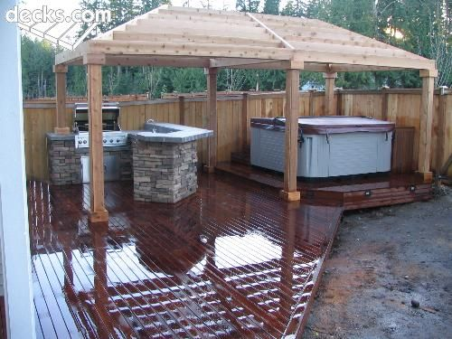 52 best images about hot tubs and decking on pinterest for Hot tub shelter plans
