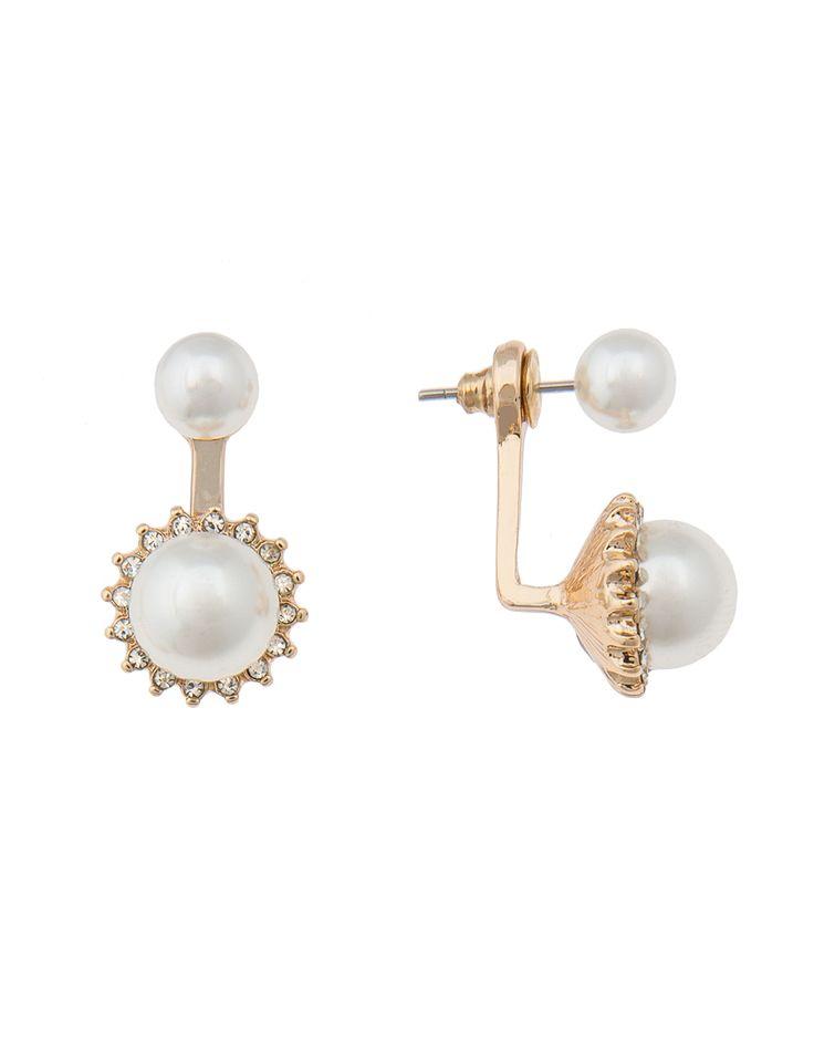Pearl Detail Earring Jacket | Women's Plus Size Jewelry | ELOQUII