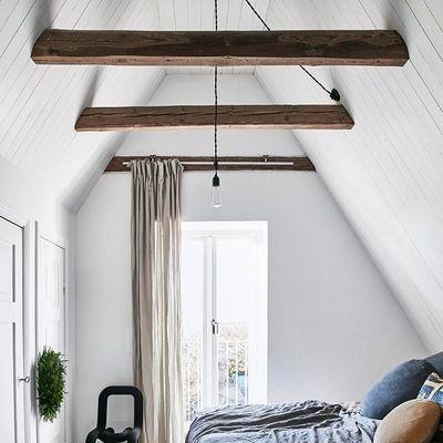 Chambres avec poutres bois apparentes : exemples pour s'inspirer