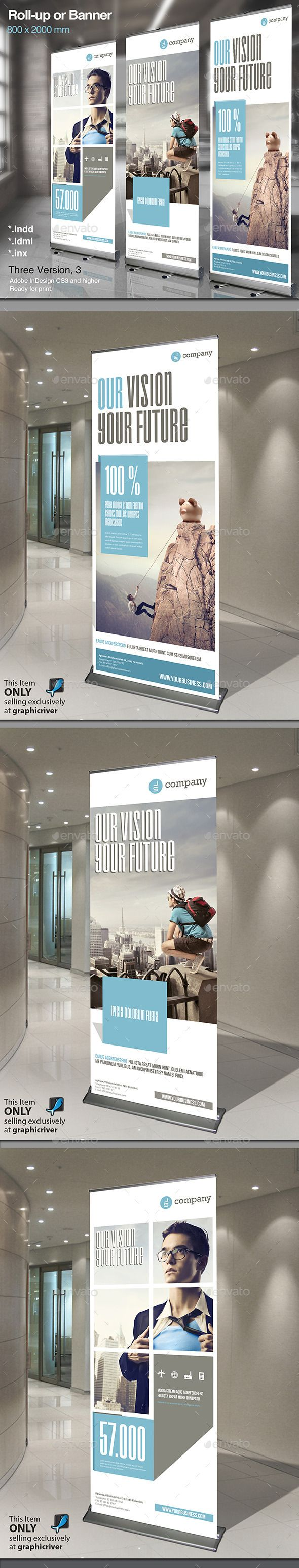 Corporate Rollup or Banner Vol. 2 — InDesign INDD #financial #people • Available here → https://graphicriver.net/item/corporate-rollup-or-banner-vol-2/12959889?ref=pxcr