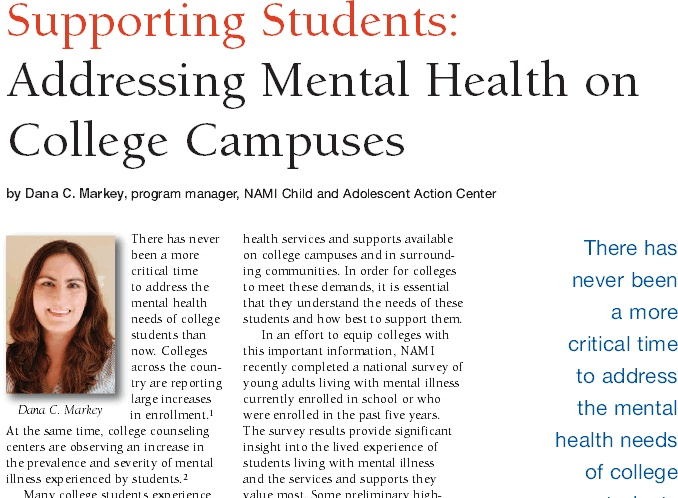 Mental Health Counseling possible college subjects
