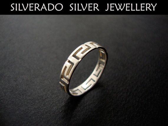 Sterling Silver 925 Greek Eternity Key by SilveradoJewellery, €13.50