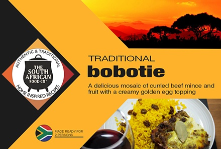 South African Food: Bobotie, curried beef mince