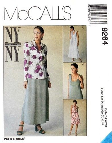 McCall's 9264 Jacket & Low Necked Sleeveless Dress 1998
