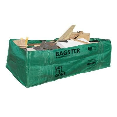 WM Bagster Dumpster in a Bag-775-658 at The Home Depot The WM Bagster Dumpster in a Bag is the perfect on-demand waste removal solution for your job site or do-it-yourself project. Fill the bag with up to 3,300 lb. of debris or waste, then schedule your collection with Waste Management. The collection fee is not included. Visit www.thebagster.com