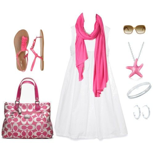 Pink Pink Pink! Pink Pink Pink! Pink Pink Pink!: Pink Summer, Pink Pink Pink, Summer Dresses, Coach Pur, Starfish Necklaces, Summer Outfits, Fun Games, White Dresses, The Beaches