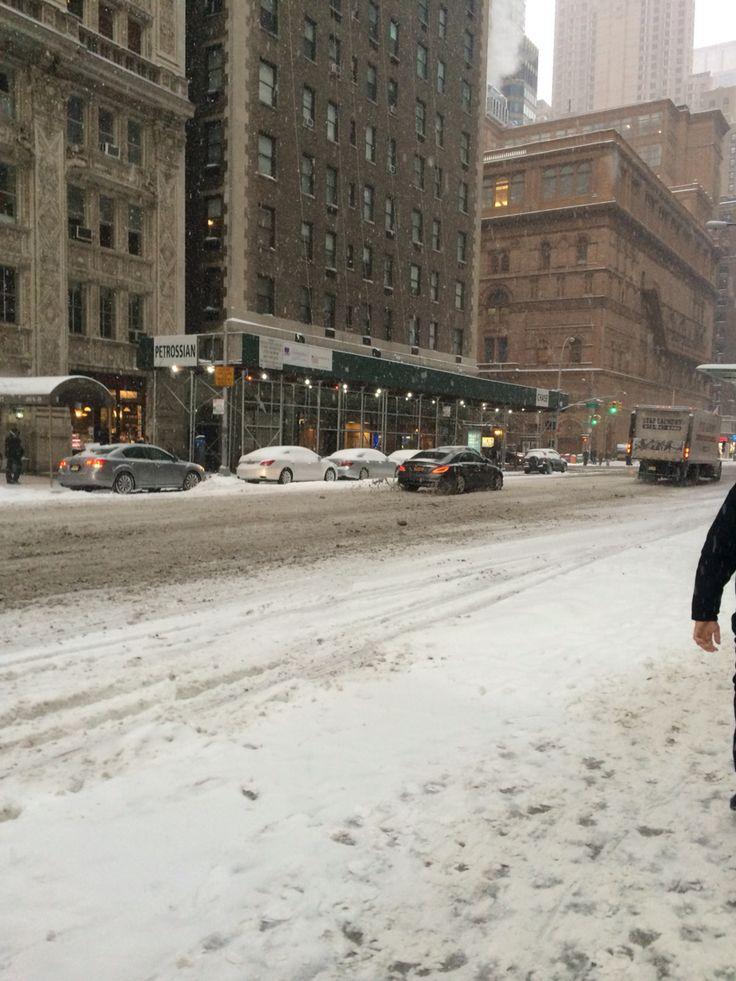 Snowy manhattan
