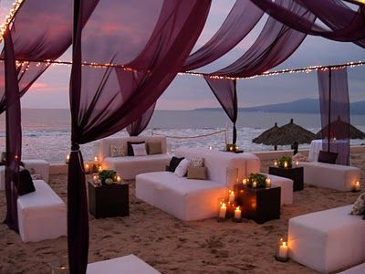 If you're having a beach destinationwedding, you don't have to limit your ceremony to the beach. Why not have your reception there, also?
