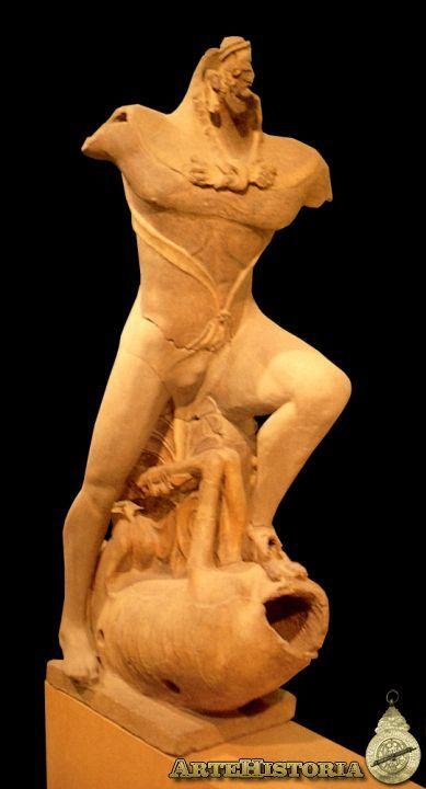 Hércules de Veyes. Templo de Portonaccio (h. 500 a.C). Museo de Villa Giulia, Roma. Arte etrusco.
