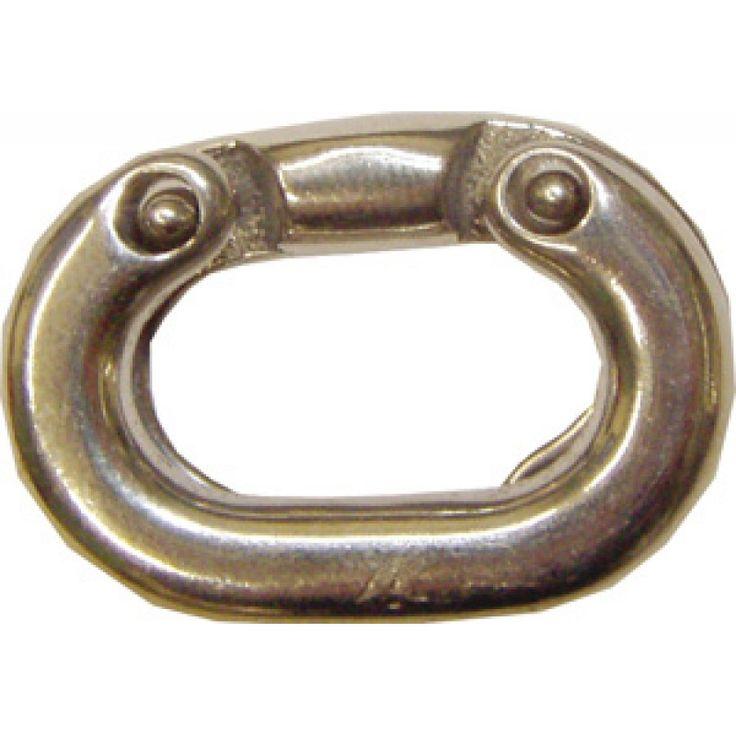Malla Inox para union de cadena Calibrada 6 mm, mallas desmontables calibradas en acero inoxidable para unión de varios tramos de cadena.Más de ocho mil A, Malla Inox para union de cadena Calibrada 6 mm